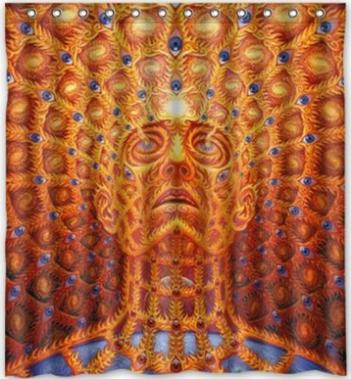 custom unique design alex grey waterproof fabric shower curtain 72 by 60inch