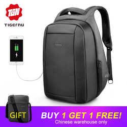 89f8e18e3b39 Tigernu Waterproof Anti Theft Male Mochila 15 6inch Laptop Backpack Men USB  Backpacks School bags
