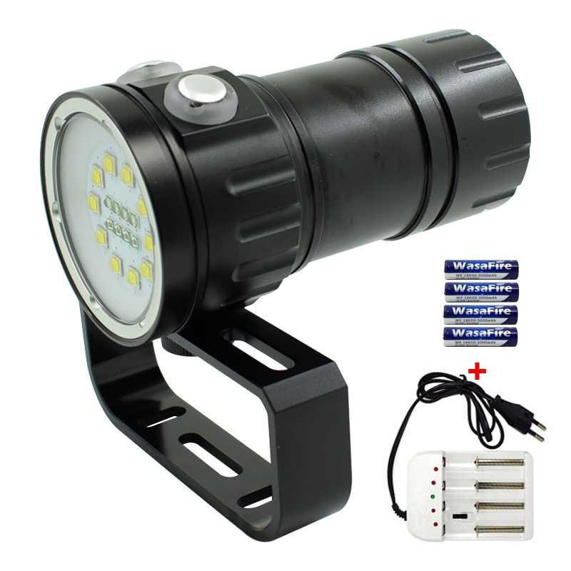 WasaFire Underwater Video Photography Flashlight 18 LED Dive Flash Light Camping Lamp XML L2 Torch With 18650 Battery + Charger sitemap 21 xml