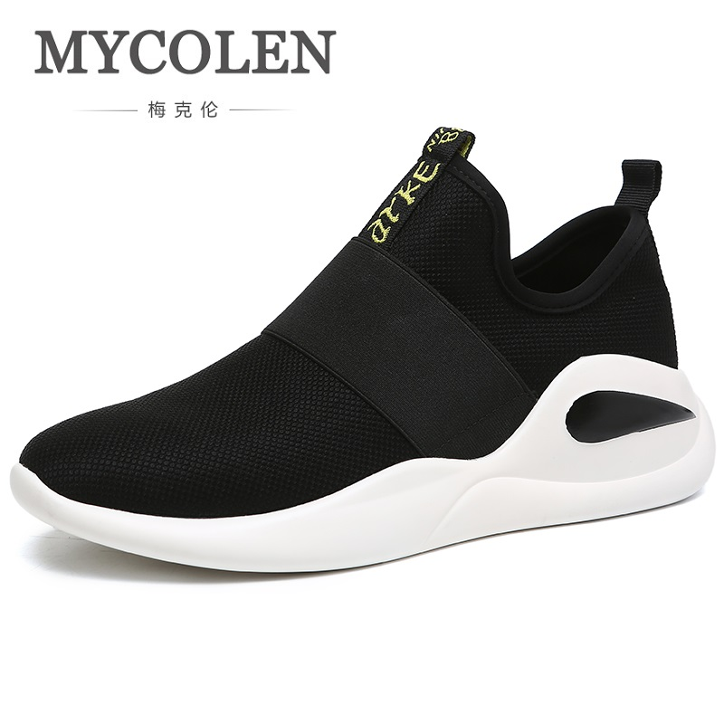 MYCOLEN Men Sneakers 2018 Spring/Autumn Fashion Men Footwear Breathable Set foot High Quality Casual Flats Shoes Krasovki Men spring autumn casual men s shoes fashion breathable white shoes men flat youth trendy sneakers
