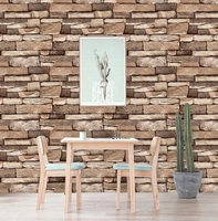 45cm*10m retro vintage 3D brick wall paper brick pvc wall sticker brick self adhesive wallpaper for home decoration