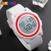 New Arrival Fashion Casual SKMEI Brand Waterproof Watches Women Lovers Sport Watch With Very Comfortable Soft