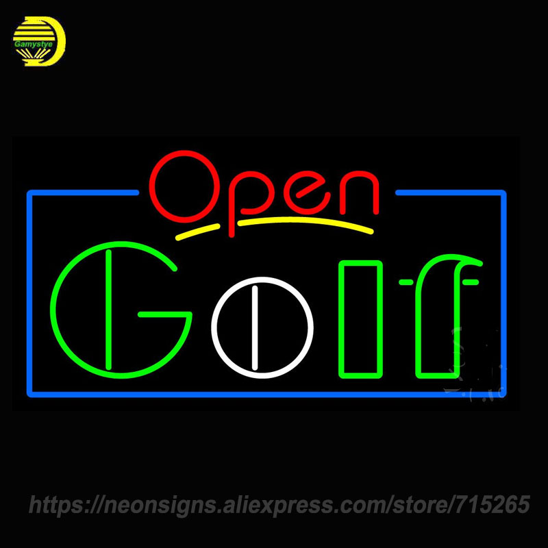 Neon Sign for Open font b Golf b font Handmade Neon Sign Lights Store Advertise Neon