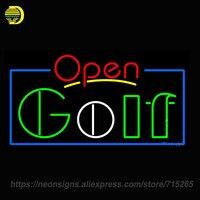 Neon Sign For Open Golf Handmade Neon Sign Lights Store Advertise Neon Bulb Sign Custom LOGO
