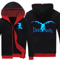 Popular Hooded Hoodie Death Note Luminous Sweatshirt Coat Hoody Sweatshirts Hoodies