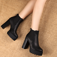 women Martin Boots Thick Heel Short boot High-Heeled Ankle Boot sy-1649