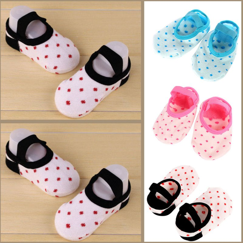 Hot Children Infants Snowflake Slipper Socks Anti-slip Crib Shoes Ankle Socks fishnet ankle socks