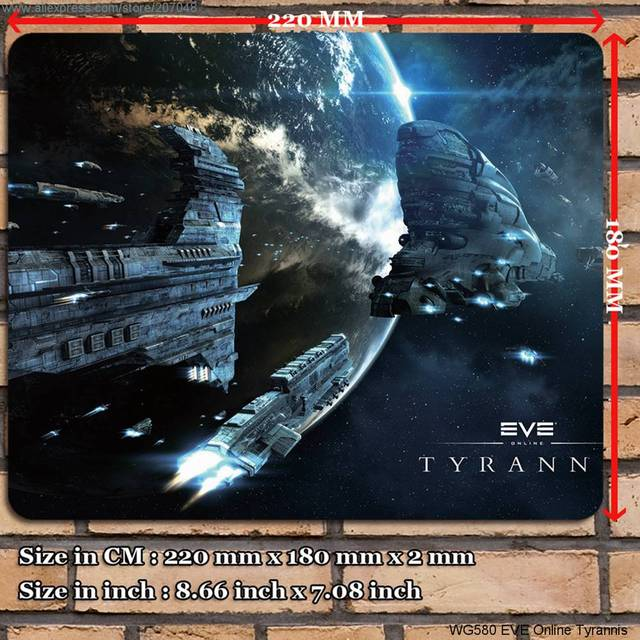 US $3.87 |Decoration Place Pad for Game WG580 EVE Online Tyrannis Mouse Mat 22 x 18 x 0.2 cm in Mats & Pads from Home & Garden on |