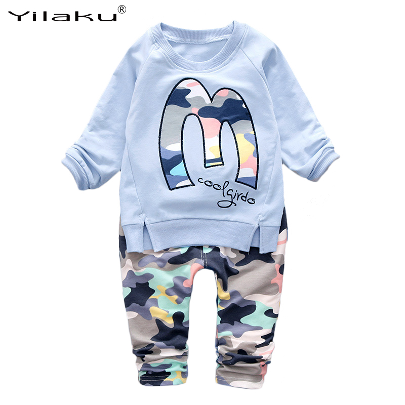 New Autumn Children Clothing Set Boys Girls Fashion Camouflage Clothes Suit Kids Hoodies+Pants Outfits Boy Girl Clothes Set
