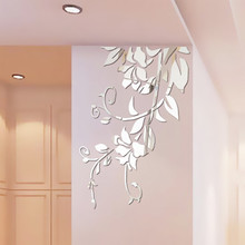 3D Diy Acrylic Mirror Stickers for Room Decoration Flower Wall Decals Sticker Living Room Bedroom Wall Decor Home Sticker mirror wall stickers sticker room decoration home decor kids for bedroom variety fonts name letters alphabet customizable r242