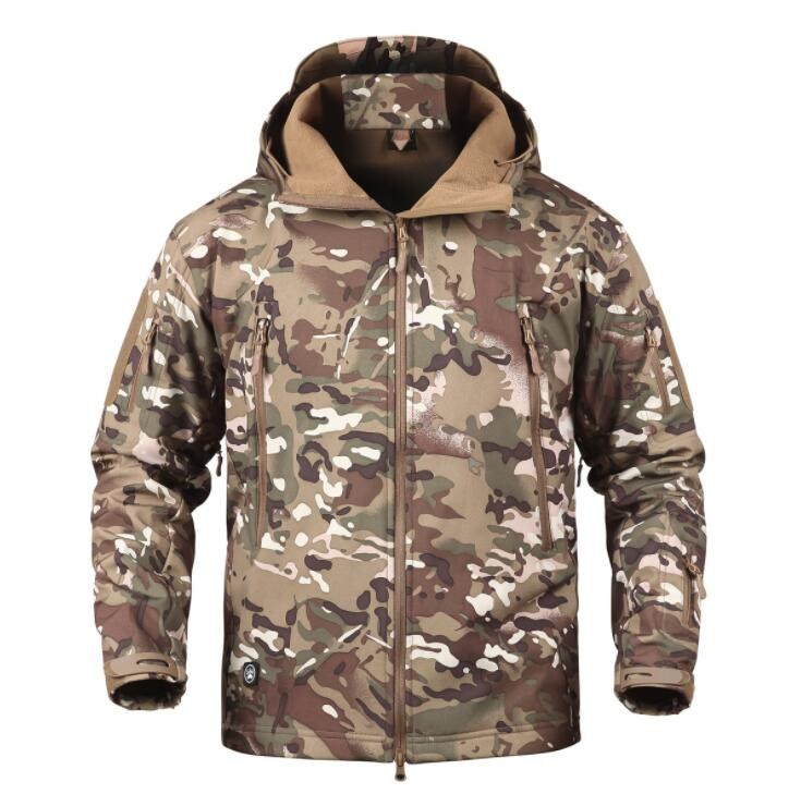 2019 Custom jacket Men's autumn winter jacket Army Camouflage Men Jacket Coat Military Tactical Jacket Windbreaker Hunt Clothes|Jackets| |  - title=