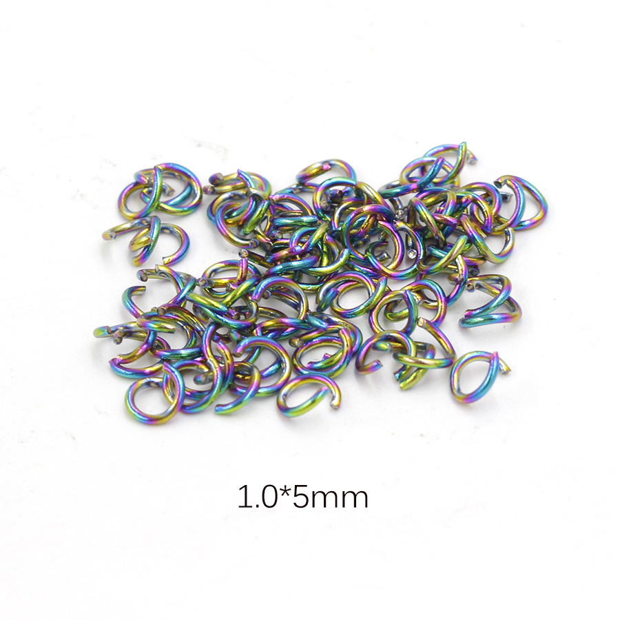 1080pc//Box Aluminum Open Jump Rings 6-Color Kit Unsoldered Loop Findings 6x0.8mm