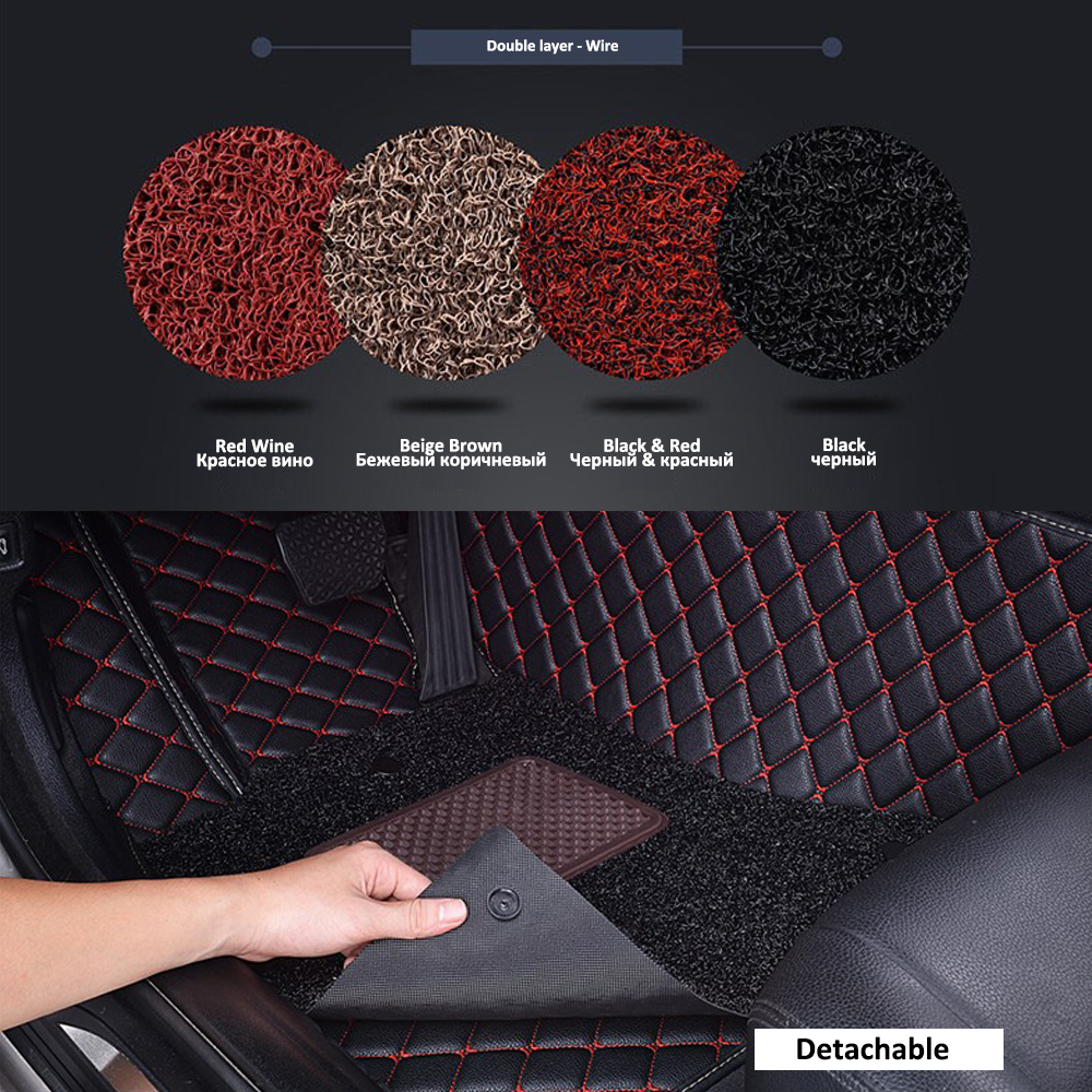 Image 4 - Custom Car Leather Floor Mats for BMW All Models 335i 335i GT xDrive 335i xDrive 335is 335xi 428i Luxury Surround Wire Floor Mat-in Floor Mats from Automobiles & Motorcycles