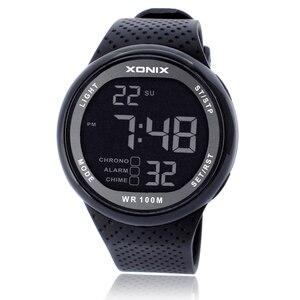 Image 2 - กีฬานาฬิกาผู้ชายหรูหรา100เมตรRelogio Masculino LEDดำน้ำว่ายน้ำReloj Hombreกีฬานาฬิกานาฬิกาข้อมือSumergible GJ