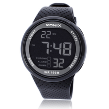 スポーツウォッチラグジュアリー男性100メートルレロジオmasculino ledデジタルダイビング水泳リロイhombreスポーツ腕時計sumergible腕時計
