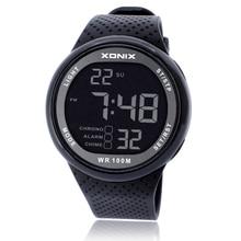 ספורט שעון יוקרה גברים 100M Relogio Masculino LED דיגיטלי צלילה שחייה Reloj Hombre ספורט שעון Sumergible שעוני יד