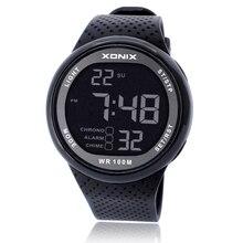 XONIX Sport Montre De Luxe Hommes 100 M Relogio Masculino LED Numérique Plongée De Natation Reloj Hombre Montre de Sport Sumergible Montre-Bracelet