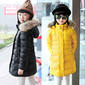 OLEKID 2016 New Winter Children Girls Down Coat Brand Thick Warm Long Jacket For Teenage Girl 4-13 Years Kids Outerwear