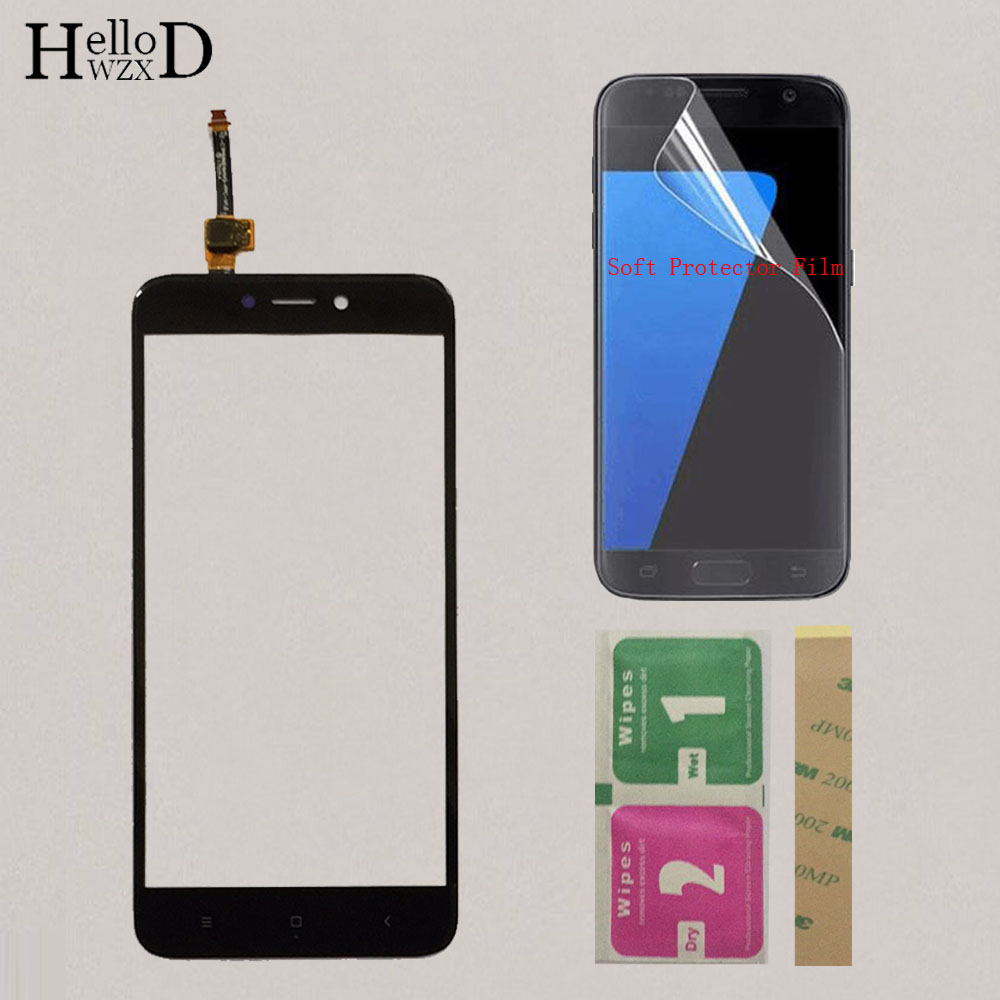 5'' Mobile Touch Screen For Xiaomi Redmi 4X TouchScreen Touch Screen Lens Digitizer Front Glass Sensor + Protector Film