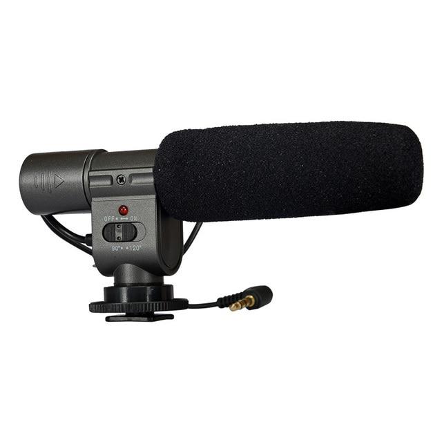 KingMa Pro DV stereo microphone mic uni-direction for Canon 500d 600d 5dII 1dIII 50D 60D Nikon D90 D3000 D7000 DSLR DV DC Camera