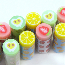 1Pcs Stationery Supplies Kawaii Cartoon Pencil Erasers cute fruit office Correction Kid learning Gifts