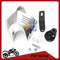 Chrome Motorcycle Bike V-shield Horn Cover for Harley Davidson Softail/Dyna/Glide/Big Twin/Electra 1992-2012