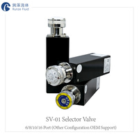 Laboratory Microfluid Distribution Industrial Switching Valve Stepper Motor