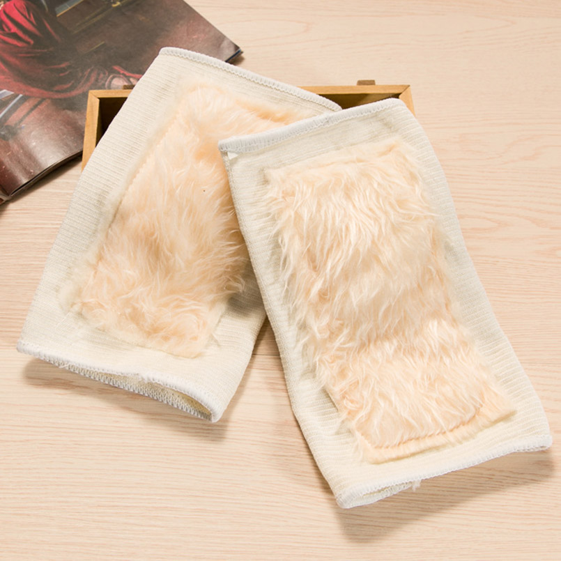 1 Pair Winter Woolen Elastic Warmer Kneecap Leg Sleeves Relief Prevent Arthritis Knee Pads Unisex Windproof Knee Protector