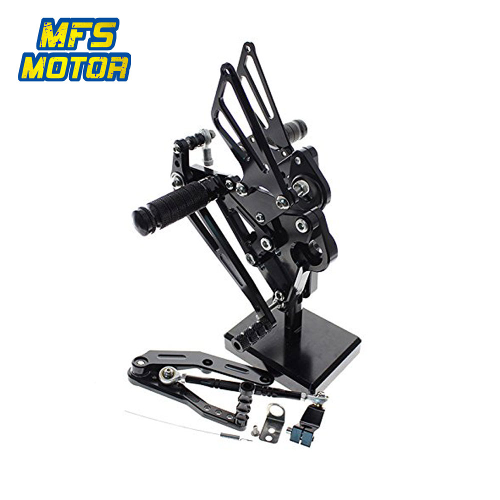 For Yamaha MT09 FZ09 XSR900 CNC Adjustable Rearset Motorcycle Accessories Foot Rest Foot Pegs MT 09 FZ 09 Footrests
