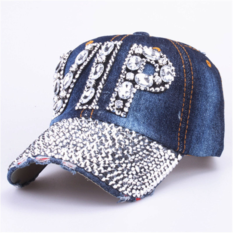 Dropwow  YARBUU CAP Wholesale 2017 Hat Rhinestone Print Denim hat ... 22ddf5c0f763
