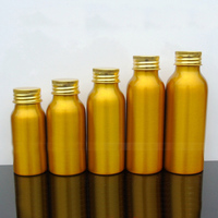 30-50pcs 30/50/60/80/100ml Aluminum gold empty bottle Capsule bottle Screw cap cosmetic jar Sample travel subpackage bottles
