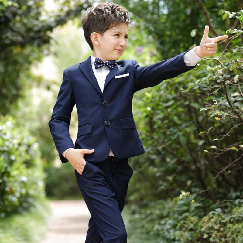 Full Regular Coat Boys Suits For Weddings Kids Prom Wedding ...