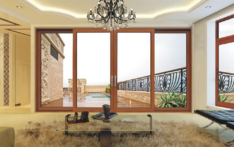 De aluminio del marco marco de aluminio vidrio templado puerta corredera en puertas de mejoras - Puertas correderas de vidrio templado ...