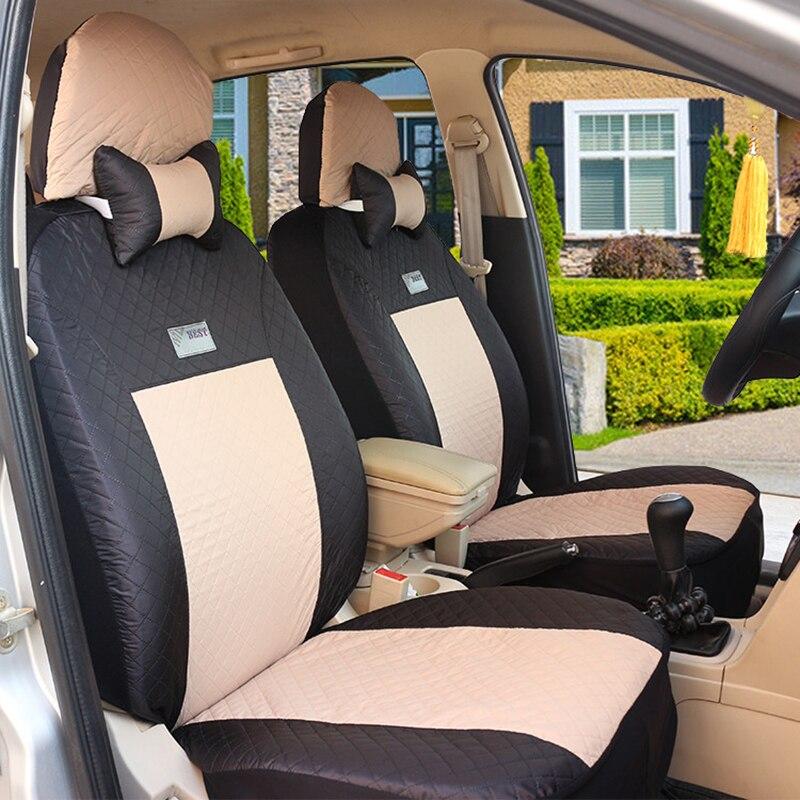 (Avant + arrière) housses de siège de voiture universelles pour Mitsubishi ASX Lancer SPORT EX Zinger FORTIS Outlander accessoires auto - 3
