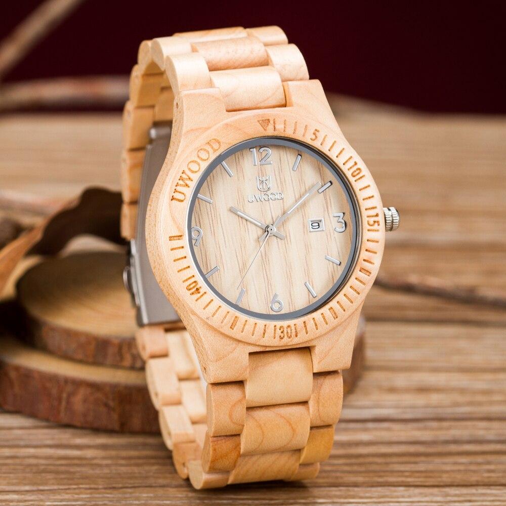 Fashion Wristwatches Lover`s Wooden Watch New Year Gift Bangle Quartz Watch Calendar Display Role Women unisex masculino watches