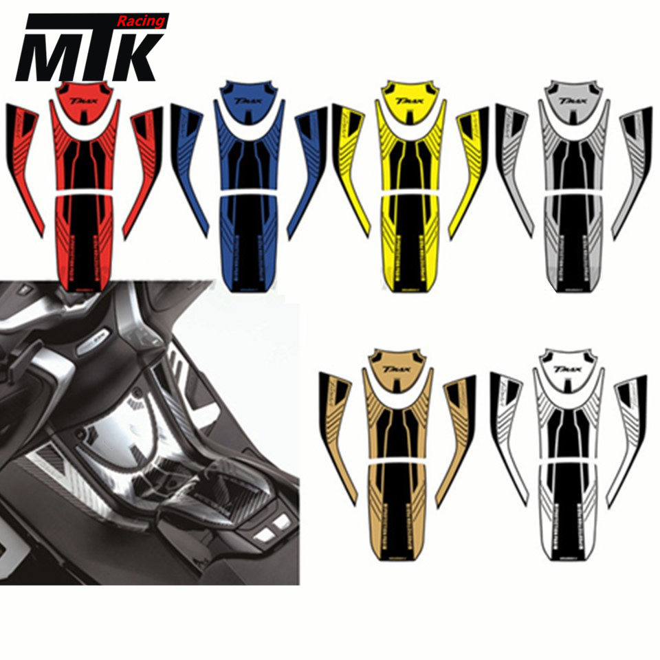 MTKRACING For YAMAHA TMAX530 TMAX 530 DX SX Sport 2017 2018 3D ADESIVI Sticker Decal Emblem Protection Tank Pad Gas Cap kodaskin carbon 3d adesivi sticker decal emblem protection tank pad gas cap z1000 2012 2015