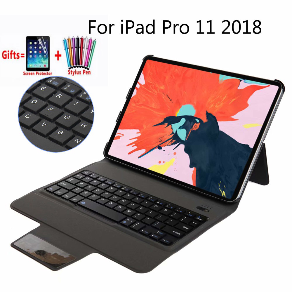 Ultra Thin Wireless Bluetooth Keyboard Case Cover Funda for IPad Pro 11 Inch 2018 Released Tablet