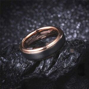 Image 4 - 8mm кольцо мужское кольцо золотое мужские кольца вольфрамовые кольца  кольца из розового золота кольцо для мальчиков женщина звонит мужской перстень юбилейные кольца кольца для девочки розовые кольца для женщин