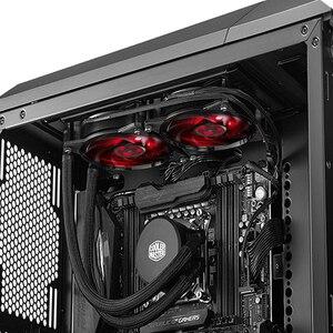 Image 5 - Refrigerador mestre b120 b240 cpu refrigerador de água 120mm vermelho led silencioso ventilador para intel 1155 1156 2011 2066 amd am4 am3 cpu líquido refrigeração
