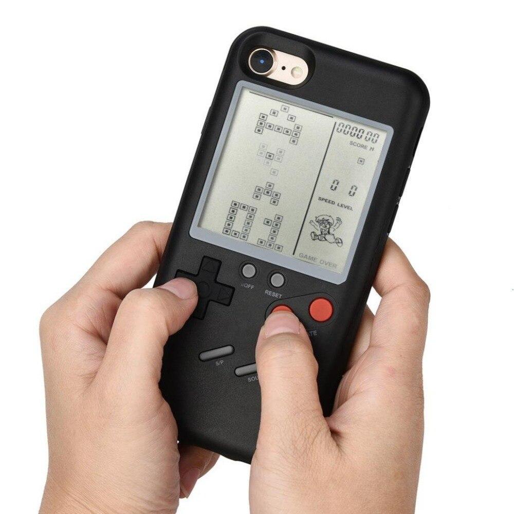 MLR Pode Jogar Pouco Gameboy Para Os Casos de Telefone para o iphone 6 6 s 7 7 mais 8 8 mais Tetris Game Console cobrir