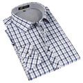 Autumn 2016 Spring Classic style Plaid shirt  for male  silk and cotton fabric long sleeve slim fit non-iron causal men's shirts