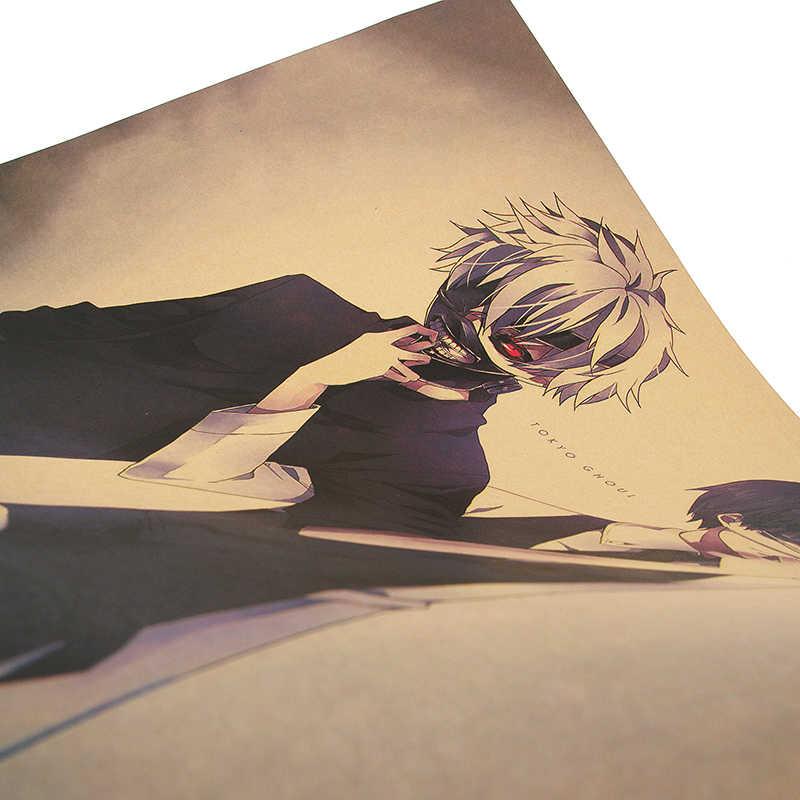 DLKKLB Токийский Гуль классический анимационный фильм винтажные наклейки бумага для поделок в стиле ретро Наклейка на стену 51,5x36 см картина для украшения помещений