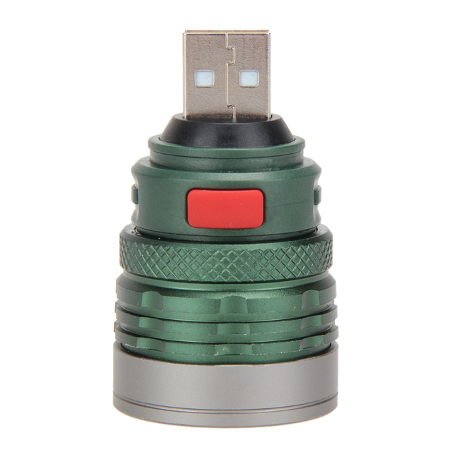 USB LED Power Flashlight Head Lamp 3W Extension Zoomable Light Torch Home Lights With Switches For Outdoor Use