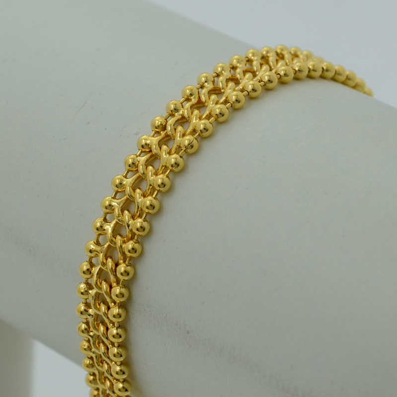 22K Bracelets Women Yellow Real Gold Plated Filled Fashion Jewelry