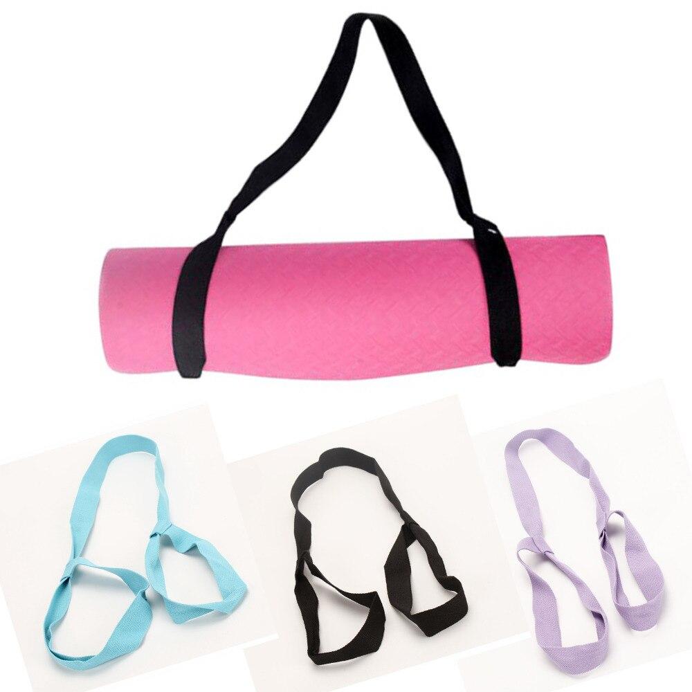 New Fitness Elastic Yoga Pilates Mat Sling Strap Yoga Mat