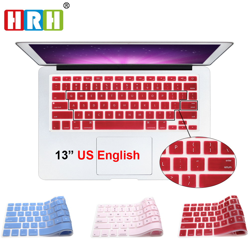 Wholesale US Silicone Laptop keyboard Skin Protector Cover Protective film Guard for Apple Macbook Air Retina 13 15 17 Air 13