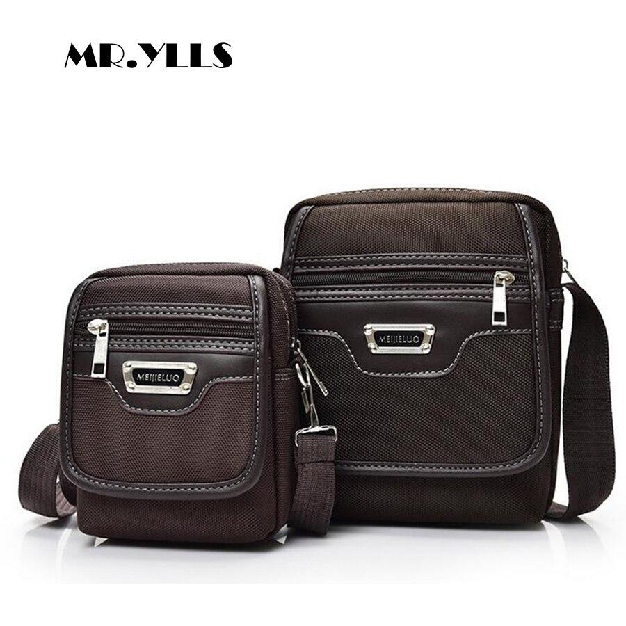 MR.YLLS Men Business Fashion Oxford Shoulder Bags Casual Zipper Male Bag High Capacity Solid Crossbody Bags Vintage Gentleman fashion business men