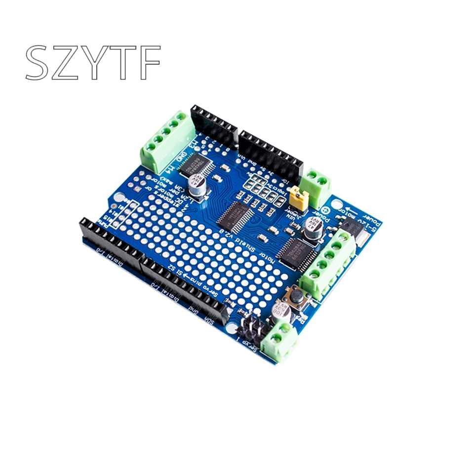 US $4 35 |IIC I2C TB6612 Mosfet Stepper Motor PCA9685 PWM Servo Driver  Shield V2 For Arduino Robot PWM Uno Mega R3 Replace L293D-in Integrated