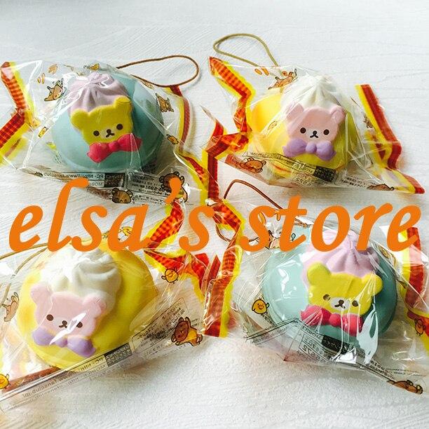 imágenes para Lote de super kawaii rilakkuma rare blando squishies 10 unids macaron blando PU tokio japón encanto niños juega El Envío Libre