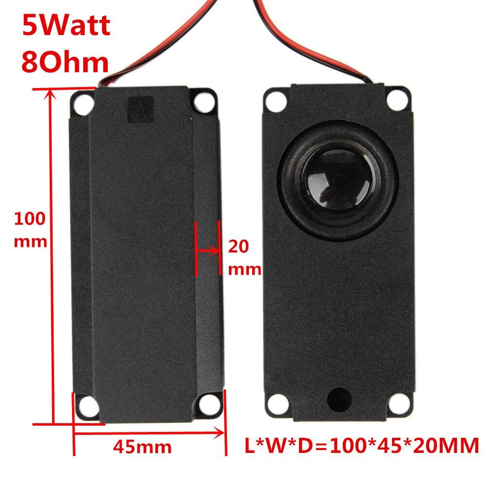 (2 Teile/los) 5 Watt 5 Watt 8 Ohm 8r Audio Lautsprecher 10045 Led Lcd Tv Lautsprecher Ohm 5 Watt Doppelmembran Lautsprecher Bass10 Cm X 4,5 Cm X 2 Cm SchöNe Lustre